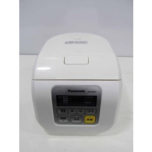 炊飯器 パナソニック 3合炊き マイコン炊飯器 SR-ML051-W ホワイト 2012年製|getman