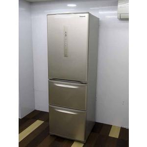 ●商品名:パナソニック 冷凍冷蔵庫 エコナビ NR-C37FM-N 365L 3ドア シルキーゴール...