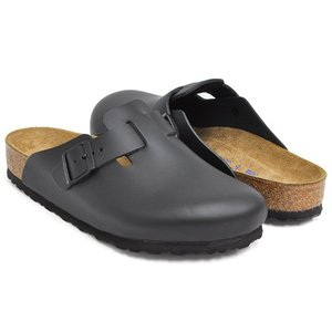 BIRKENSTOCK Boston SOFT FOOTBED 【ビルケンシュトック ボストン クロッグ サンダル】  BLACK / SMOOTH LEATHER gettry
