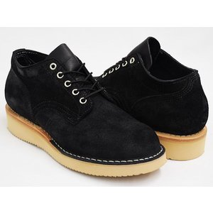 HATHORN by WHITE'S BOOTS OXFORD RAINIER 〔ハソーン ホワイツ・ブーツ レーニア〕 BLACK ROUGH OUT (WIDTH:E)|gettry
