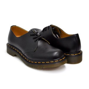 Dr.Martens 1461 3EYE GIBSON SHOE WOMENS 【ドクターマーチン 3 アイ ホール ギブソン シューズ】 BLACK SMOOTH|gettry