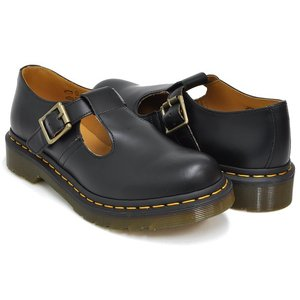 Dr.Martens POLLEY T-BAR MARY JANE 【ドクターマーチン ポーリー】 BLACK SMOOTH|gettry