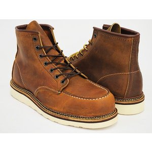 RED WING 6INCH MOC TOE BOOT ''IRISH SETTER'' #1907 【レッドウィング 6インチ モックトゥ ブーツ】 【カッパー ラフ&タフ】 COPPER ROUGH&TOUGH WIDTH:D|gettry