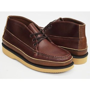 RUSSELL MOCCASIN SPORTING CLAYS CHUKKA 〔ラッセルモカシン スポーティング クレイ チャッカ〕 RED BROWN / BROWN / TAN (WIDTH E)|gettry