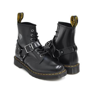 Dr.Martens 1460 HARNESS 8EYE BOOT 【ドクターマーチン ハーネス 8 アイ ブーツ ホール】 BLACK POLISHED SMOOTH|gettry
