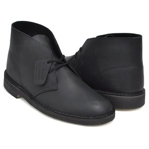 Clarks DESERT BOOT 【クラークス デザートブーツ】 BLACK SMOOTH LEATHER WIDTH:G|gettry