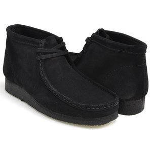 Clarks WALLABEE BOOT 【クラークス ワラビー ブーツ】 BLACK SUEDE (WIDTH:G)|gettry