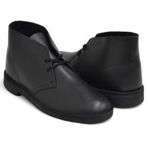 Clarks DESERT BOOT 【クラークス デザート ブーツ】 BLACK POLISHED (WIDTH:G)|gettry