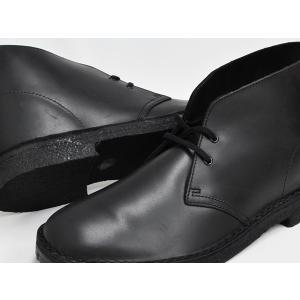 Clarks DESERT BOOT 【クラークス デザート ブーツ】 BLACK POLISHED (WIDTH:G)|gettry|03