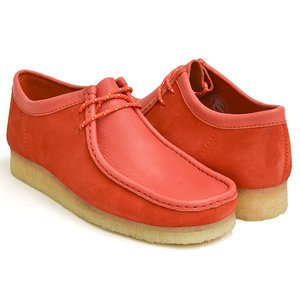 Clarks WALLABEE 【クラークス ワラビー】  RED COMBI SUEDE (WIDTH:G)|gettry