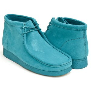 Clarks WALLABEE BOOT 【クラークス ワラビー ブーツ】  TEAL SUEDE (WIDTH:G)|gettry