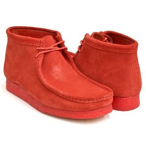 Clarks WALLABEE BOOT 【クラークス ワラビー ブーツ】 RED SUEDE (WIDTH:G)|gettry