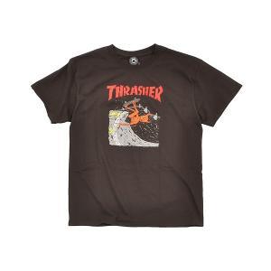 THRASHER NECKFACE INVERT S/S TEE 【スラッシャー マガジン ネックフェイス インバート Tシャツ】 BROWN gettry