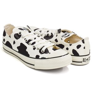 CONVERSE ALL STAR US COWSPOT OX 【コンバース オールスター ユーエス オックス カウスポット 牛柄】 WHITE (1SC564)|gettry