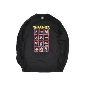 THRASHER BLACK LIGHT L/S TEE 【スラッシャー マガジン ブラックライト ロンT Tシャツ】 BLACK gettry