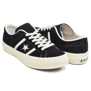 CONVERSE STAR&BARS SUEDE 【コンバース スター&バーズ スエード スウェード】 BLACK (1CL659)|gettry