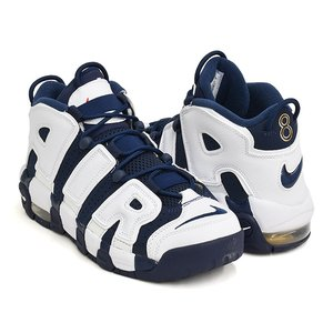 NIKE AIR MORE UPTEMPO (GS) ''OLYMPIC'' 【ナイキ エア モア アップテンポ ジーエス グレード スクール】 WHITE / MIDNIGHT NAVY|gettry