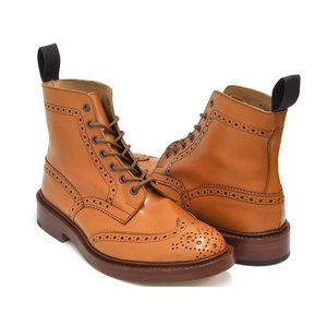 Tricker's BROGUE BOOTS STOW 5634 【トリッカーズ ブローグ ブーツ ストウ】ACORN ANTIQUE FITTING:5 (Eワイズ相当)|gettry
