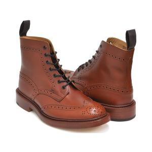 Tricker's BROGUE BOOTS STOW 5634 【トリッカーズ ブローグ ブーツ ストウ】 MARRON ANTIQUE FITTING:5 (Eワイズ相当)|gettry