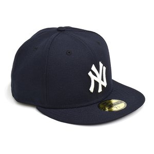NEW ERA NEW YORK YANKEES AUTHENTIC 59FIFTY FITTED CAP 【ニューエラ ニューヨーク・ヤンキース 5950 フィッテド キャップ】 NAVY / BLACK UNDERVISOR|gettry