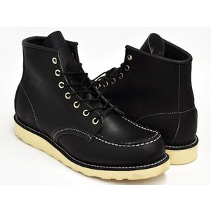 REDWING 6INCH MOC TOE BOOT #9075 〔レッドウィング 6インチ モックトゥ ブーツ〕 BLACK HARNESS (WIDTH:D)|gettry