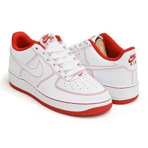 NIKE AIR FORCE 1 (GS) 【ナイキ エア フォース ジーエス グレード スクール】 WHITE / WHITE - UNIVERSITY RED|gettry