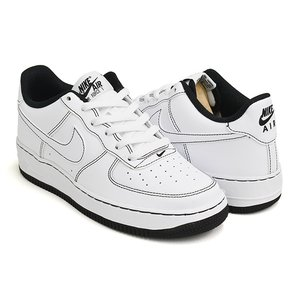 NIKE AIR FORCE 1 (GS) 【ナイキ エア フォース ジーエス グレード スクール】 WHITE / WHITE - BLACK|gettry