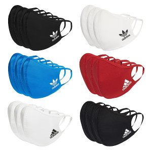 adidas FACE COVERS 3-PACK 【アディダス フェイスカバー スポーツ マスク】【返品・交換不可】 6 COLORS (同色3枚セット)|gettry