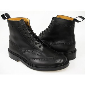Tricker's COUNTRY BOOTS MALTON #M2508 〔トリッカーズ カントリーブーツ〕 〔モールトン〕 BLACK BOX CALF FITTING:5(Eワイズ相当)|gettry