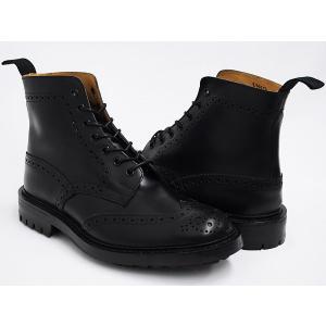 Tricker's COUNTRY BOOTS MALTON #M2508 〔トリッカーズ カントリーブーツ〕 〔モールトン〕 BLACK BOX CALF / COMMAND SOLE FITTING:5(Eワイズ相当)|gettry