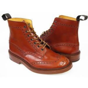 Tricker's COUNTRY BOOTS MALTON #M2508 〔トリッカーズ カントリーブーツ〕 〔モールトン〕 MARRON ANTIQUE CALF FITTING:5(Eワイズ相当)|gettry