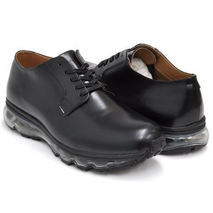 Tomo & Co x Graphpaper AIR MAIL POSTMAN 【トモ アンド シーオー グラフペーパー エアメール ポストマン】 BLACK LEATHER / BLACK SOLE|gettry