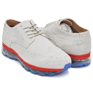 Tomo & Co WING TIP 【トモ アンド シーオー ウィングチップ】 WHITE SUEDE / TRICO SOLE|gettry