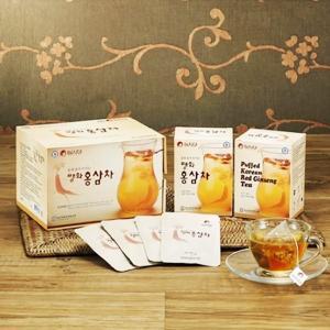 高麗人参 紅参切片茶ティーバッグ 2g×10包×5箱+1箱おまけ 錦紅ブランド|geumhong