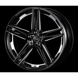 ESTATUS Style-757 (エステイタス スタイル-757) 18インチ 7.5J インセット53 5H/114.3 「ブラックサイドマシニング」 1本 アルミホイール wheel|gfactory