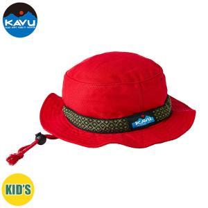 子供用 KAVU カブー Ks Bucket Hat ハット キッズ ジュニア 子供用 キャンプ アウトドア SUP 釣り 登山 水陸 RED 赤 おしゃれ|gfcreek