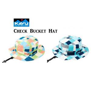 50%OFF KAVU カブー Check Bucket Hat チェック バケット ハット キャンプ アウトドア SUP 釣り 登山|gfcreek