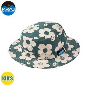 50%OFF 子供用 KAVU カブー K's Floral Bucket Hat ハット キッズ ジュニア 子供用 キャンプ アウトドア SUP 釣り 登山 花柄 GREY おしゃれ|gfcreek