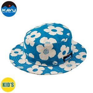 50%OFF 子供用 KAVU カブー K's Floral Bucket Hat ハット キッズ ジュニア 子供用 キャンプ アウトドア SUP 釣り 登山 花柄 SAX おしゃれ|gfcreek