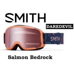 20-21 30% OFF SMITH スミス デアデビル アジアンフィット 【SMITH DAREDEVIL SALMON BEDROCK 】 スノーボード スキー ゴーグル スノボ GOGGLE 日本正規品|gfcreek