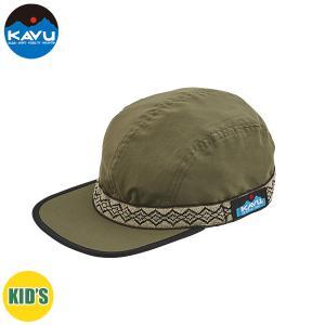 子供用 KAVU カブー K's 60/40 STRAP CAP ストラップキャップ キッズ ジュニア 子供用 キャンプ アウトドア SUP 釣り 登山 DEEP GREEN おしゃれ|gfcreek