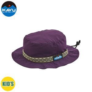 子供用 KAVU カブー K's 60/40 STRAP HAT ストラップハット キッズ ジュニア 子供用 キャンプ アウトドア SUP 釣り 登山 PURPLE おしゃれ|gfcreek