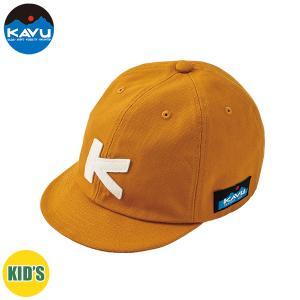 子供用 KAVU カブー K's BASEBALL CAP キャップ キッズ ジュニア 子供用 キャンプ アウトドア SUP 釣り 登山 MUSTARD おしゃれ|gfcreek
