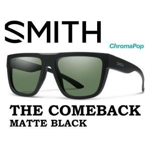 【SALE】 SMITH スミス サングラス 40% OFF 【SMITH COMEBACK  MATTE BLACK 】 登山 自転車 釣り フィッシング クロマポップ 偏光 偏向 SUNGLASS|gfcreek