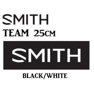 【送料無料(一部地域は除く)】SMITH スミスTEAM STICKER 25cm BLACK WHITE 黒 白 ステッカー 登山 釣り アウトドア スケート スノーボード スキー gfcreek