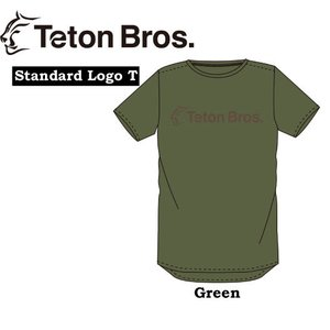 Teton Bros ティートンブロス TEE STANDARD LOGO Tシャツ ウェア バックカントリー 登山 キャンプ アウトドア スキー スノーボード GREEN|gfcreek