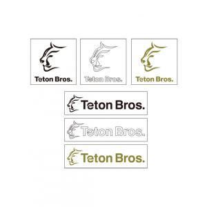 【ネコポス便発送可】Teton Bros ティートンブロス カッティング ステッカー バックカントリー 登山 キャンプ アウトドア スキー スノーボード サーフィン gfcreek