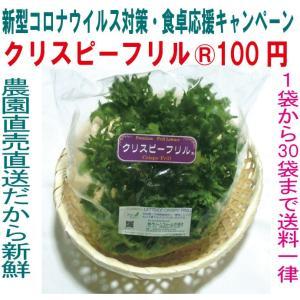 新型コロナウイルス対策・食卓応援 フリルレタス クリスピーフリル 100円 キャンペーン