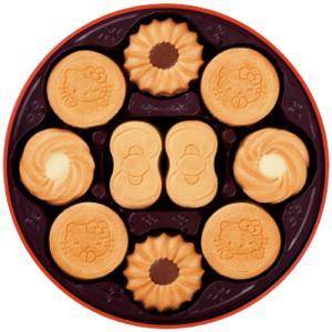 サクサクした食感のココアクッキーをかわいいキティとリボン、お花の形に焼きあげました。ちょっぴりビター...