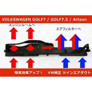 VW ゴルフ7(7.5) / アウディ A3  ツインエアダクト GOLF7/Audi A3